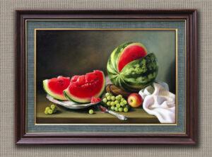 Арбуз и яблоко