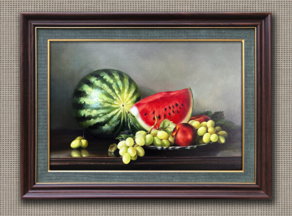 Арбуз виноград и яблоко