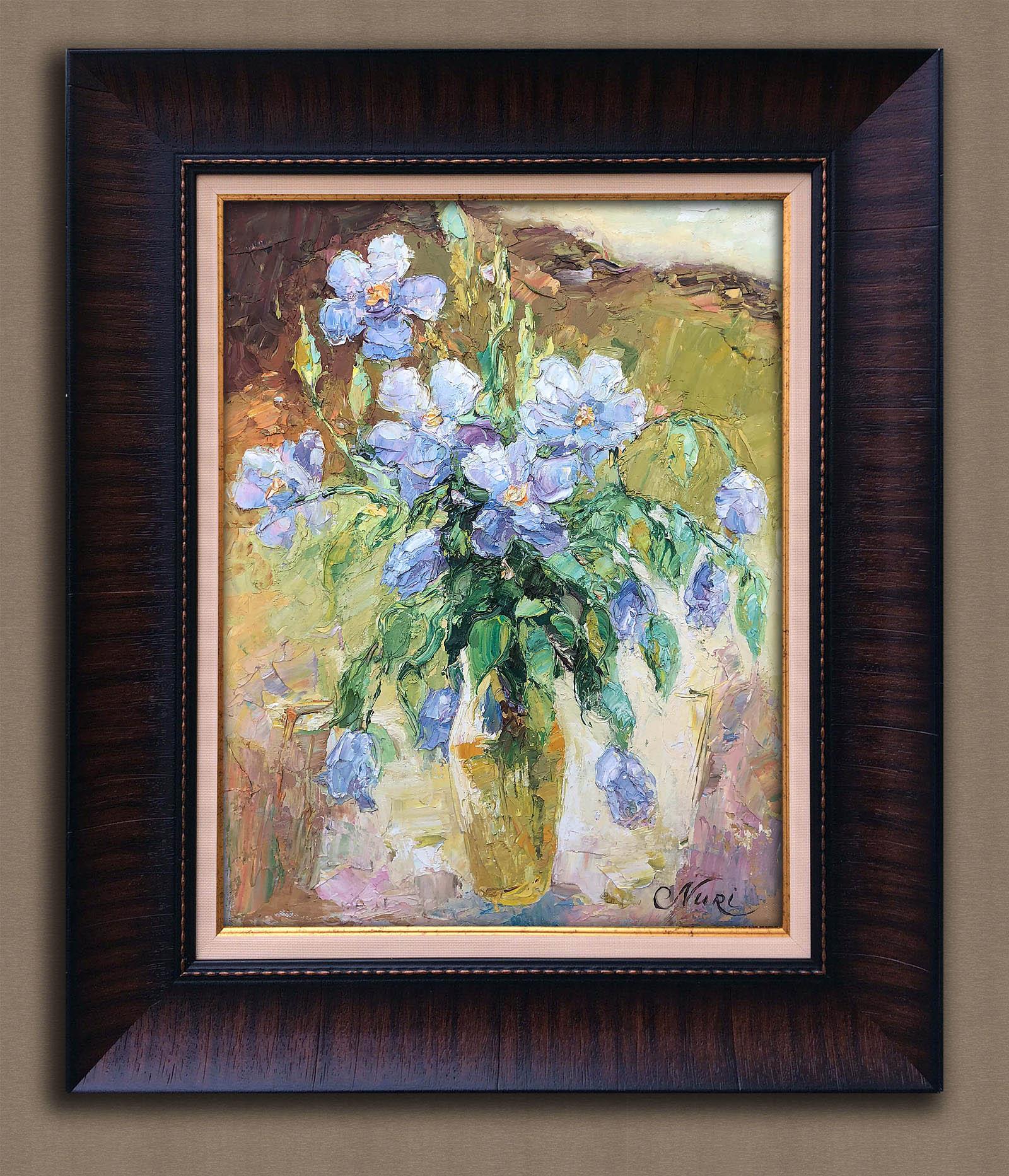Голубые цветы Алиева Нуржамал